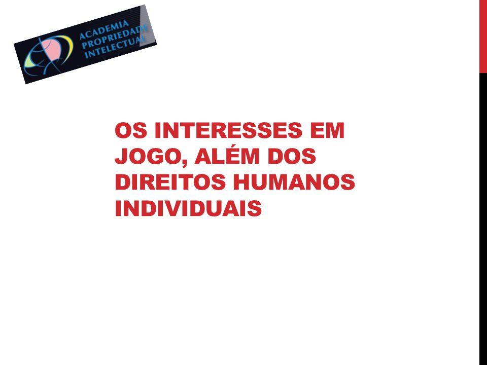 Os interesses em jogo, além dos direitos humanos individuais