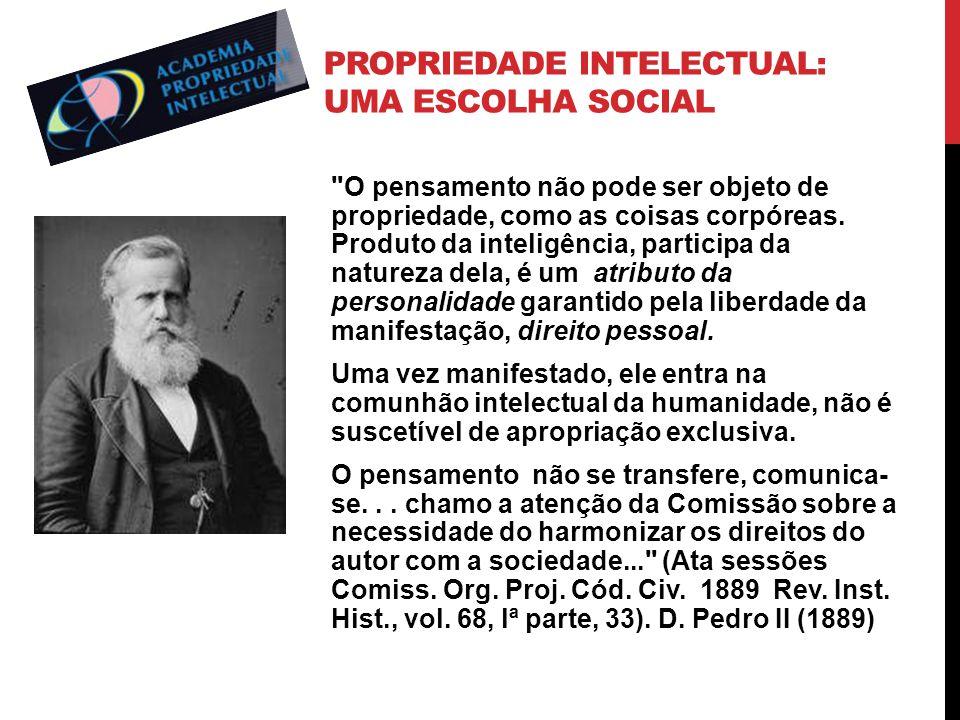 Propriedade Intelectual: Uma escolha social