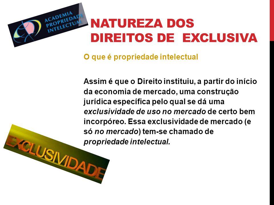 Natureza dos direitos de exclusiva