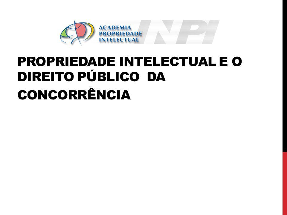 PROPRIEDADE INTELECTUAL E O DIREITO PÚBLICO DA CONCORRÊNCIA