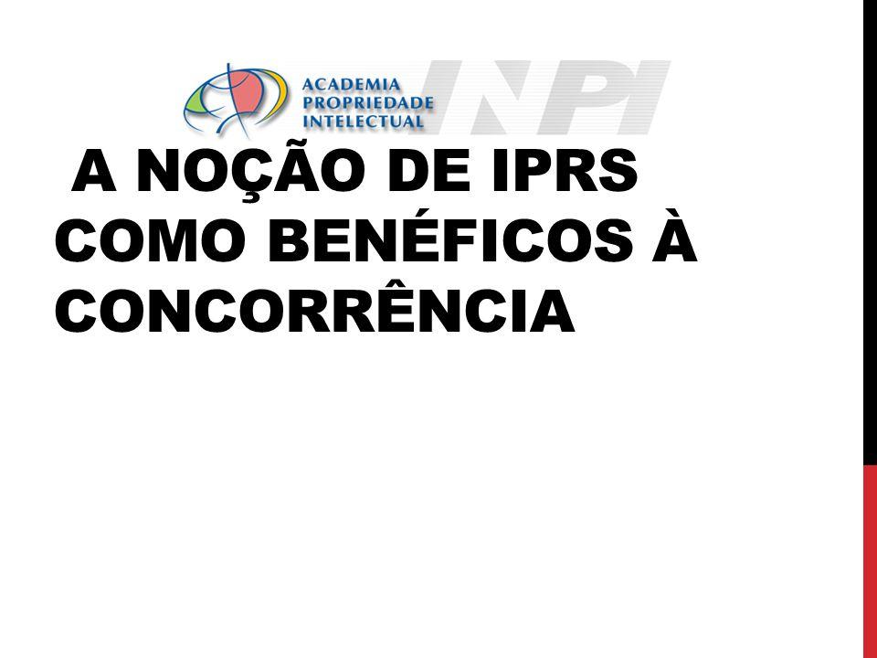 A NOÇÃO DE IPRS COMO BENÉFICOS À CONCORRÊNCIA