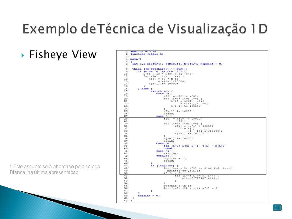 Exemplo deTécnica de Visualização 1D