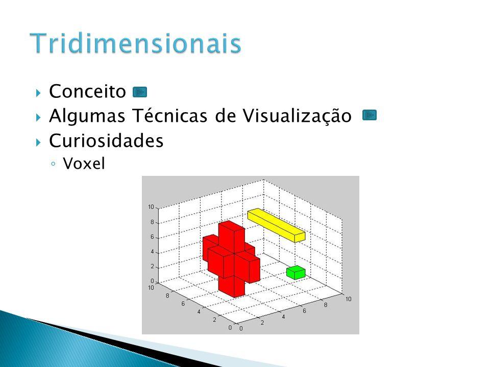 Tridimensionais Conceito Algumas Técnicas de Visualização Curiosidades