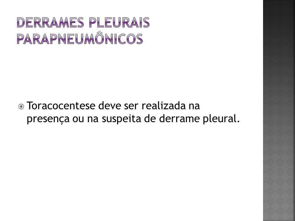 DERRAMES PLEURAIS parapneumônicos