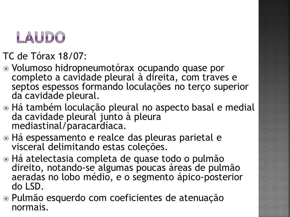 laudo TC de Tórax 18/07: