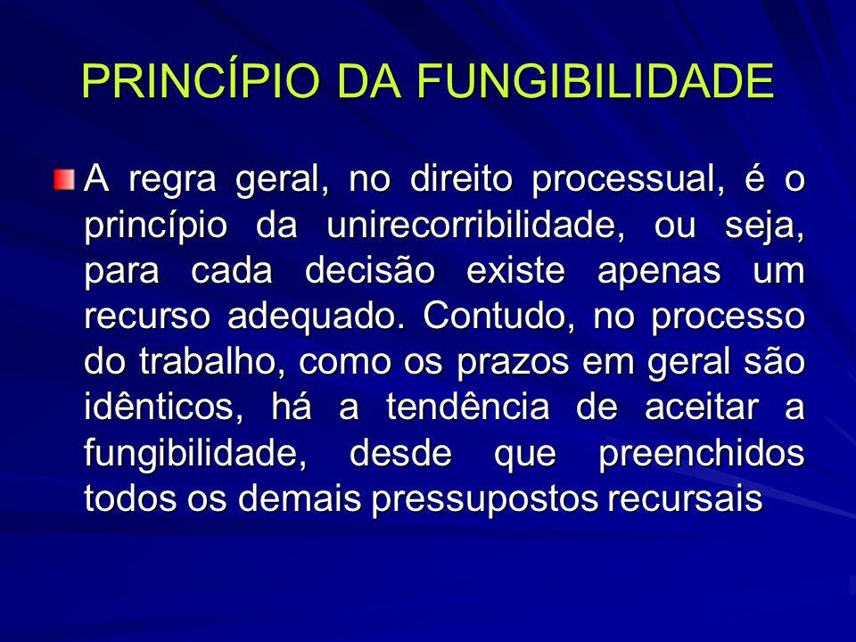 PRINCÍPIO DA FUNGIBILIDADE