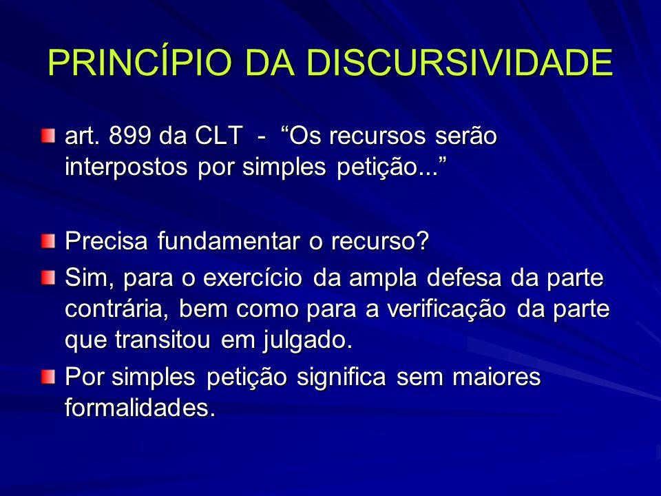 PRINCÍPIO DA DISCURSIVIDADE