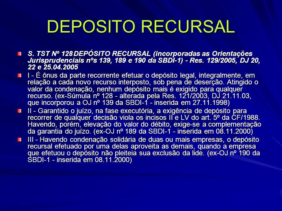 DEPOSITO RECURSAL