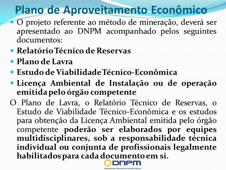 Plano de Aproveitamento Econômico