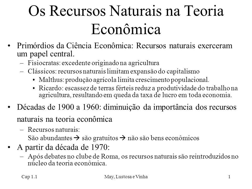 Os Recursos Naturais na Teoria Econômica