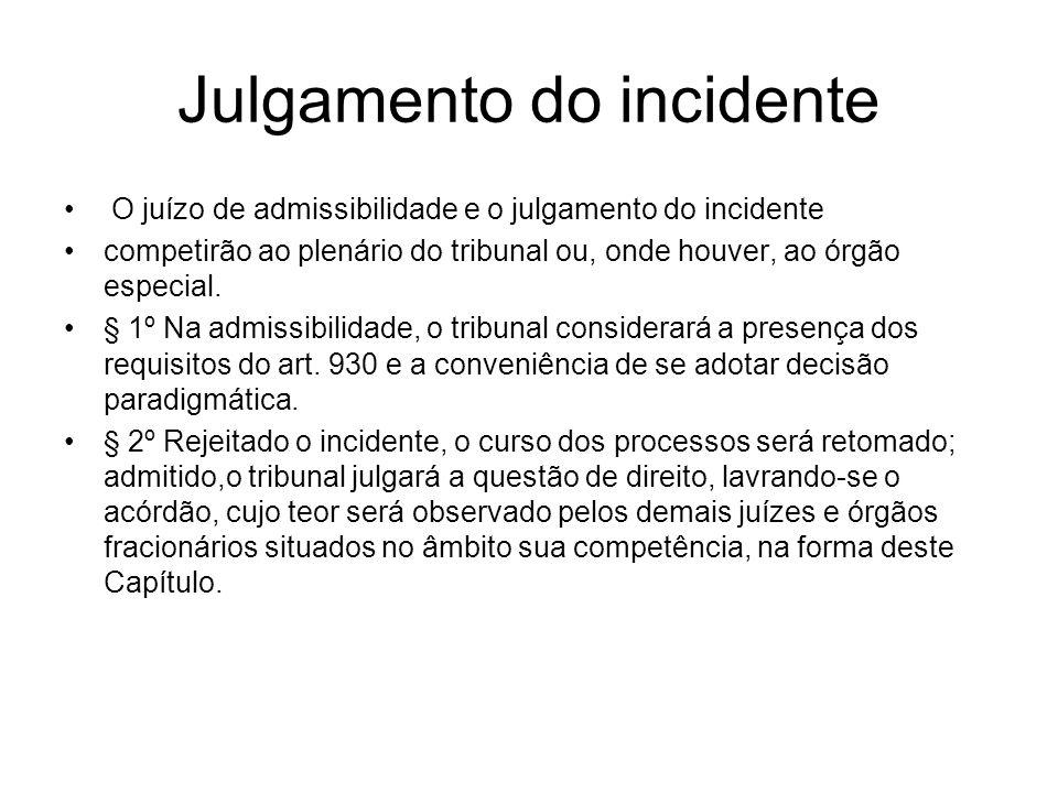 Julgamento do incidente