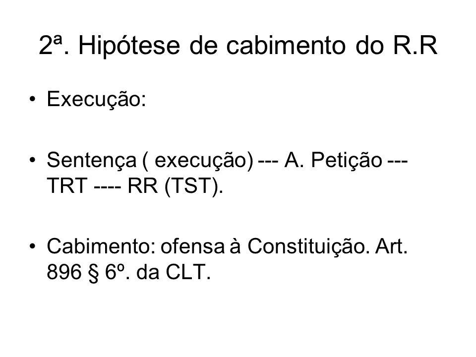 2ª. Hipótese de cabimento do R.R