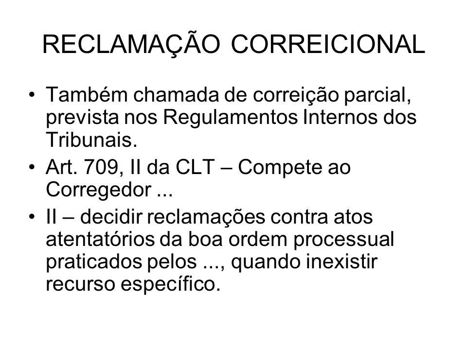 RECLAMAÇÃO CORREICIONAL