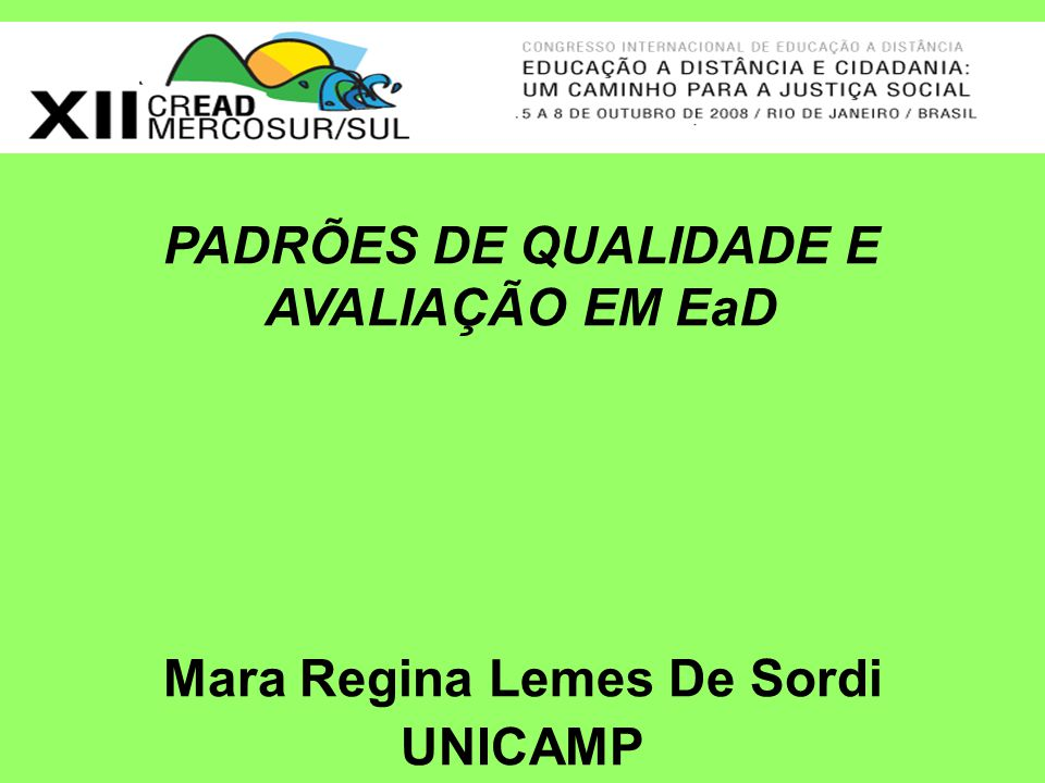 Mara Regina Lemes De Sordi UNICAMP