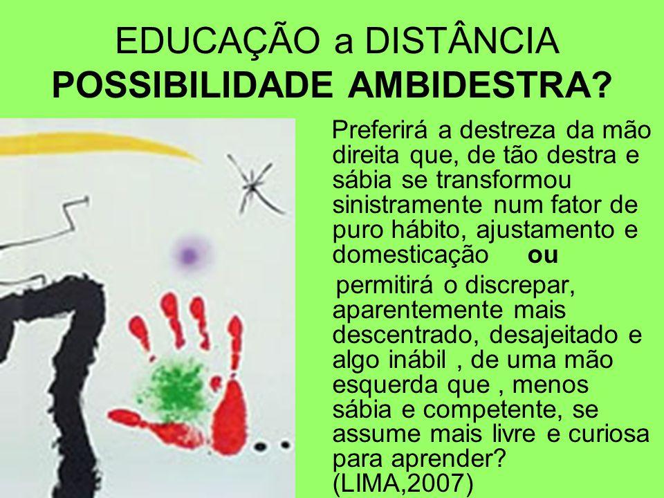 EDUCAÇÃO a DISTÂNCIA POSSIBILIDADE AMBIDESTRA