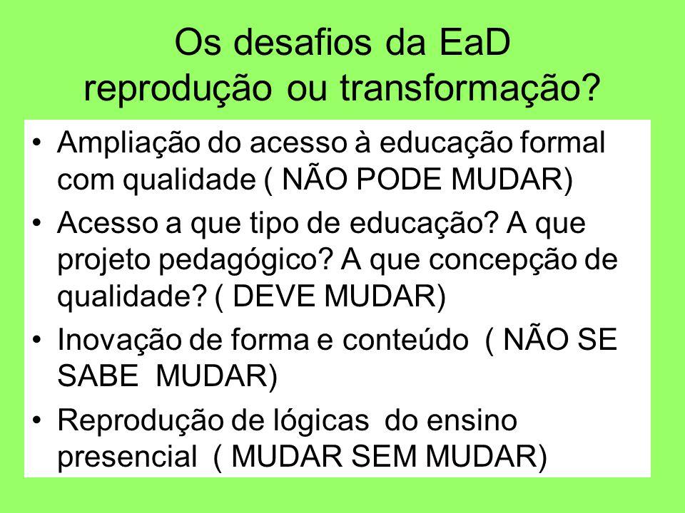 Os desafios da EaD reprodução ou transformação