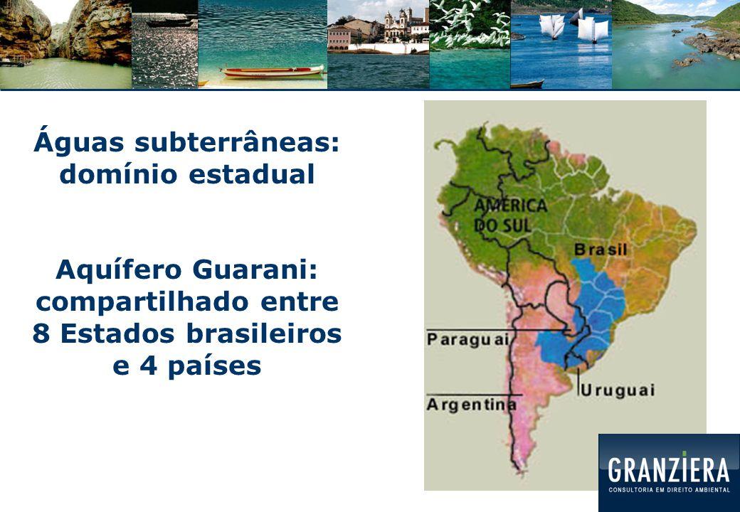 Águas subterrâneas: domínio estadual