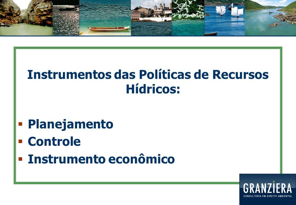 Instrumentos das Políticas de Recursos Hídricos:
