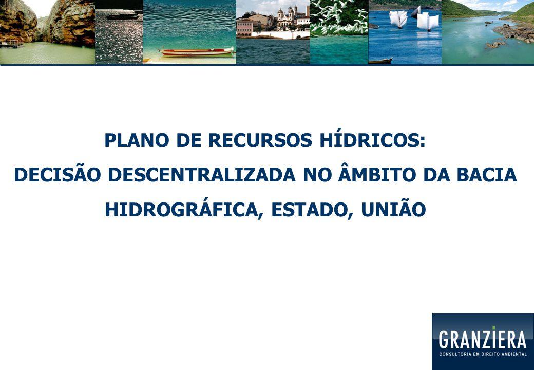 PLANO DE RECURSOS HÍDRICOS: