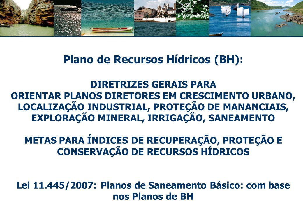 Plano de Recursos Hídricos (BH): DIRETRIZES GERAIS PARA