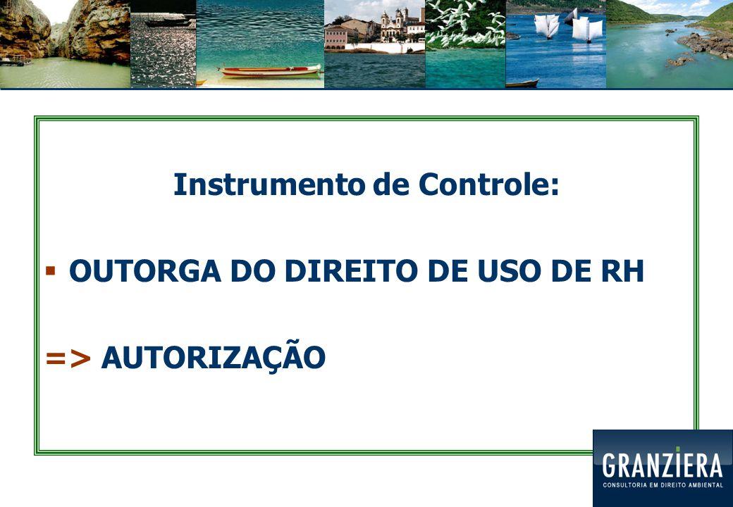 Instrumento de Controle: