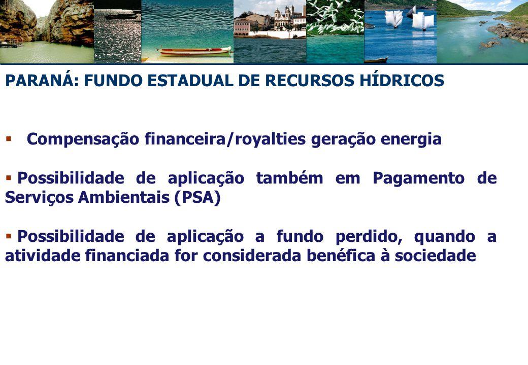 PARANÁ: FUNDO ESTADUAL DE RECURSOS HÍDRICOS