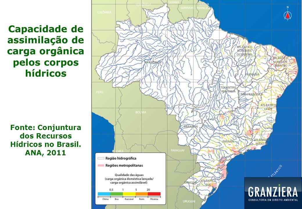 Capacidade de assimilação de carga orgânica pelos corpos hídricos