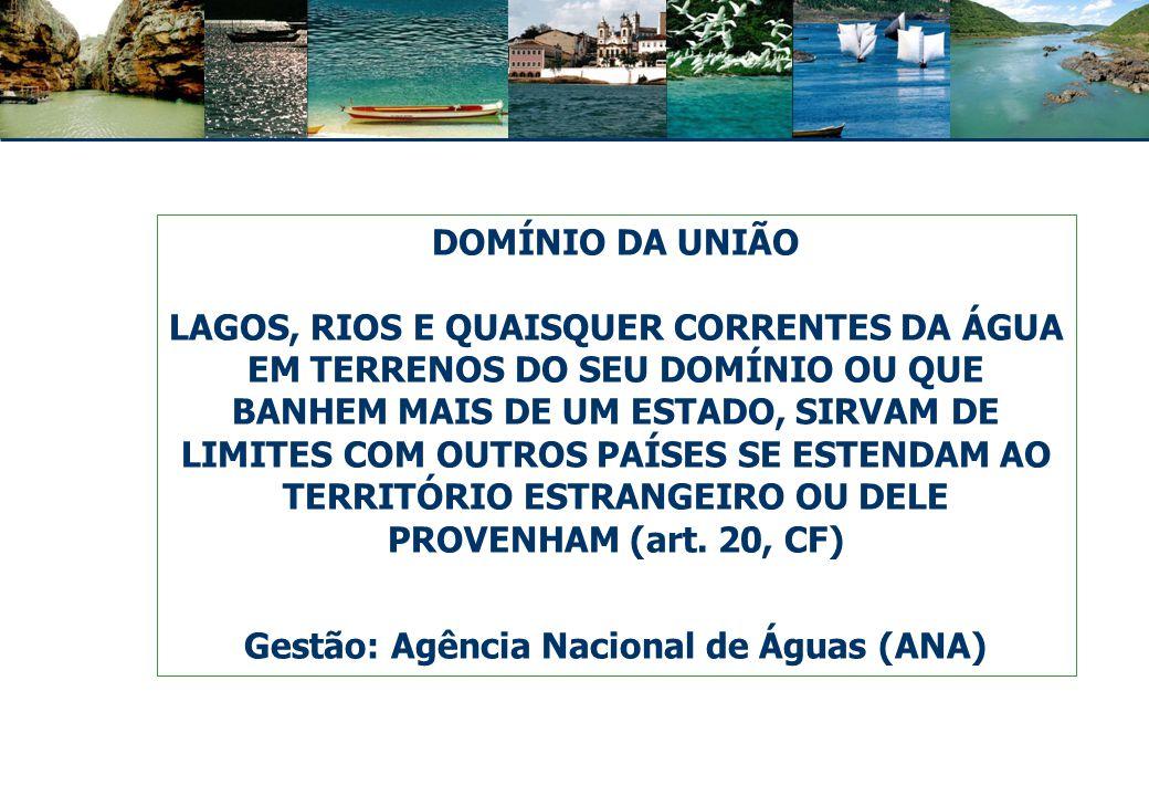 Gestão: Agência Nacional de Águas (ANA)