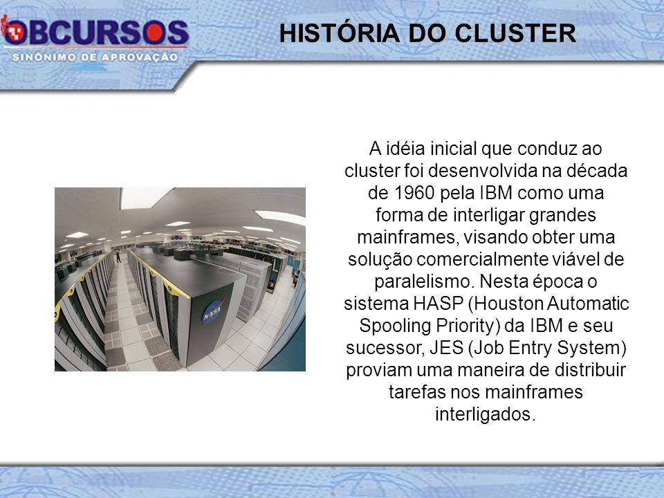 HISTÓRIA DO CLUSTER
