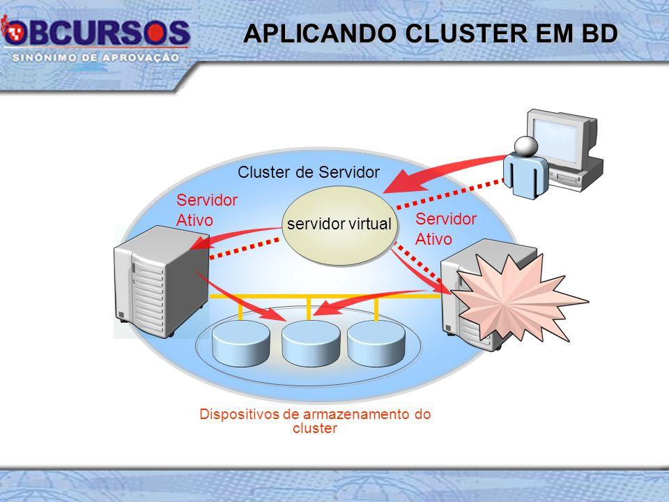 APLICANDO CLUSTER EM BD