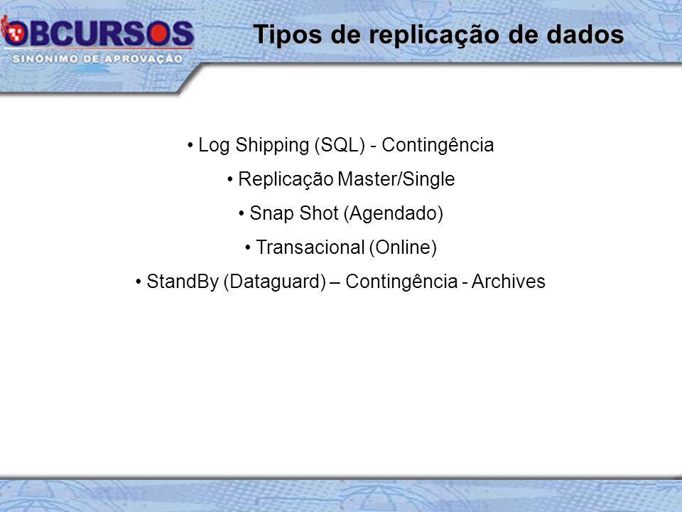Tipos de replicação de dados