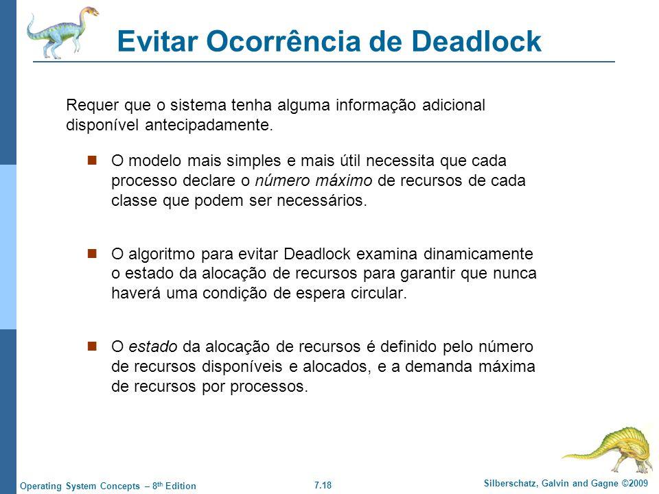 Evitar Ocorrência de Deadlock