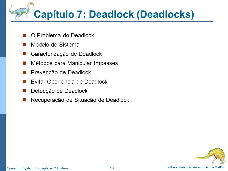 Capítulo 7: Deadlock (Deadlocks)