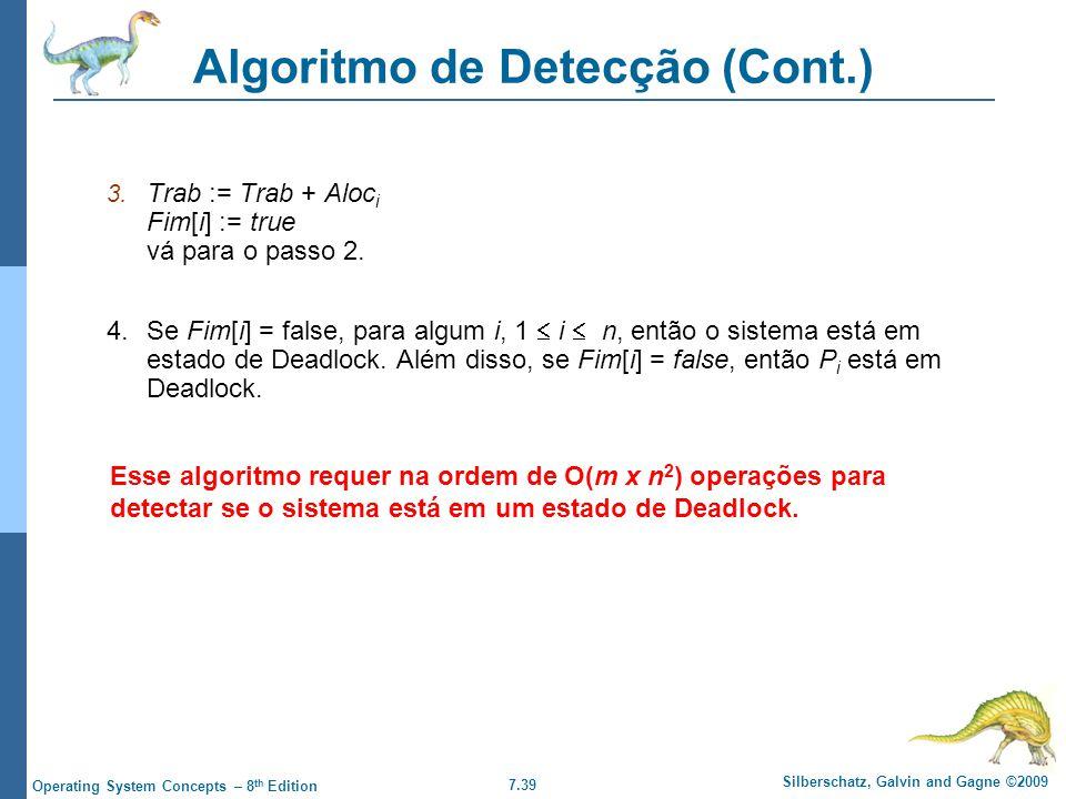 Algoritmo de Detecção (Cont.)