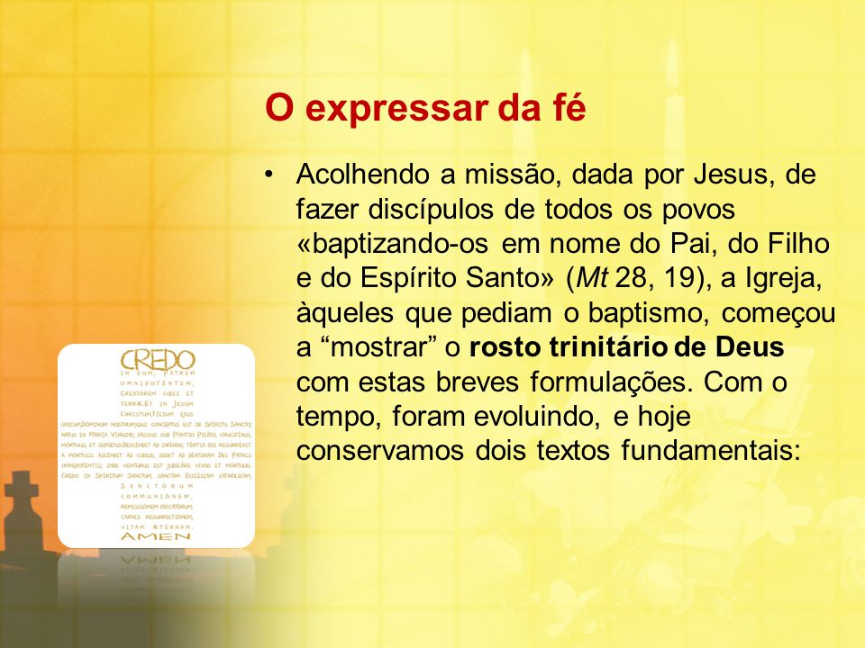 O expressar da fé