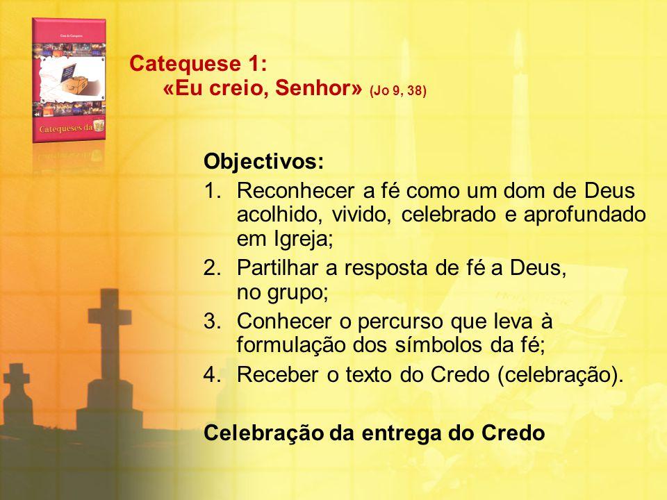 Catequese 1: «Eu creio, Senhor» (Jo 9, 38)