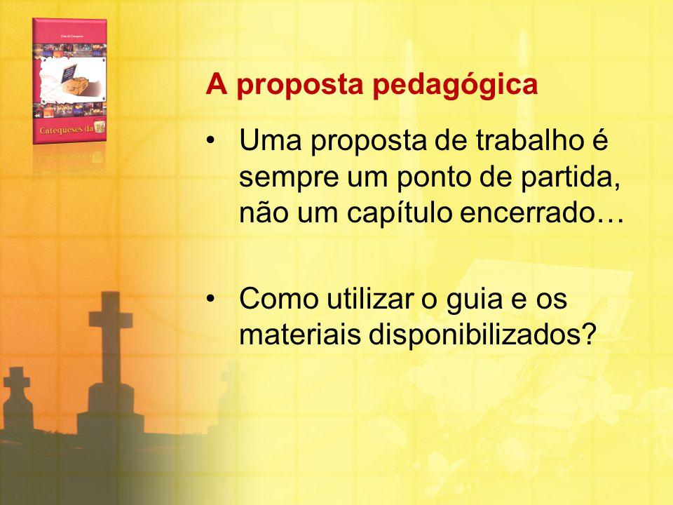 A proposta pedagógica Uma proposta de trabalho é sempre um ponto de partida, não um capítulo encerrado…