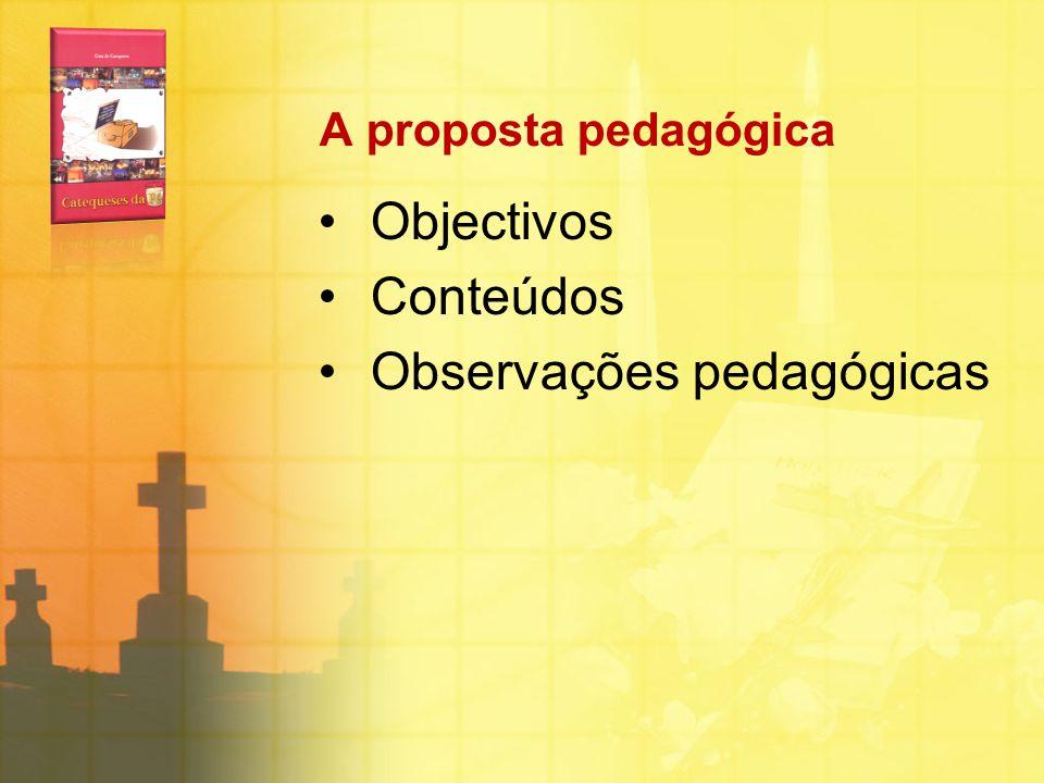 Observações pedagógicas