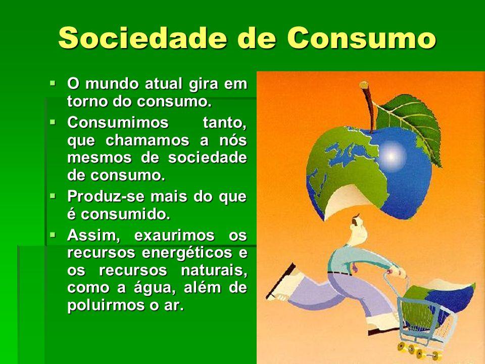 Sociedade de Consumo O mundo atual gira em torno do consumo.