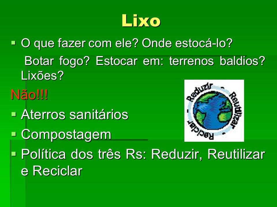 Lixo Não!!! Aterros sanitários Compostagem