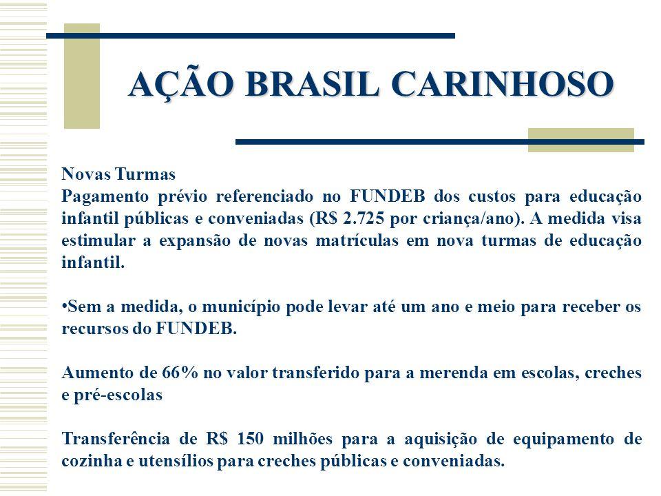AÇÃO BRASIL CARINHOSO Novas Turmas