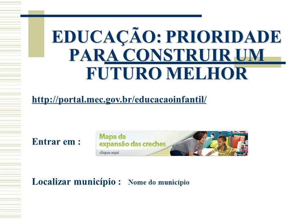 EDUCAÇÃO: PRIORIDADE PARA CONSTRUIR UM FUTURO MELHOR
