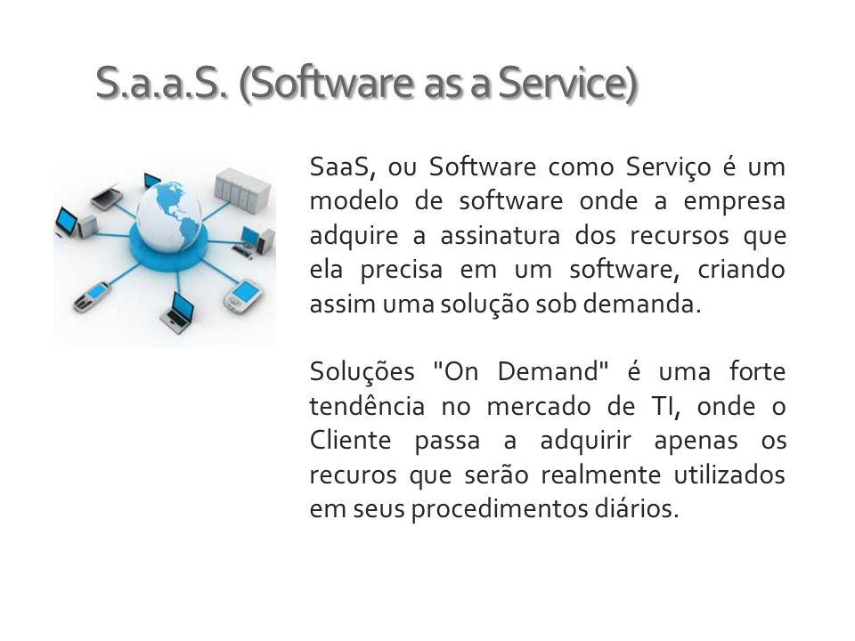 S.a.a.S. (Software as a Service)
