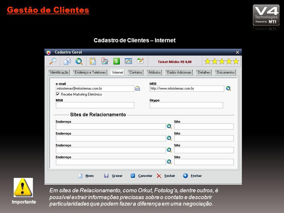 Cadastro de Clientes – Internet