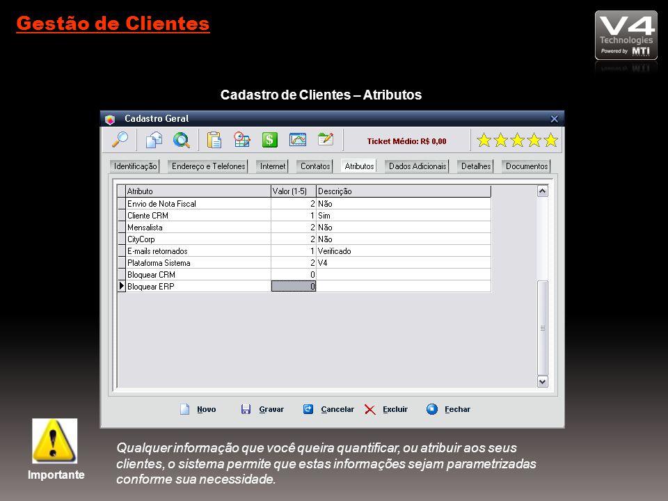Cadastro de Clientes – Atributos