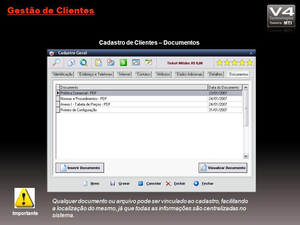 Cadastro de Clientes – Documentos