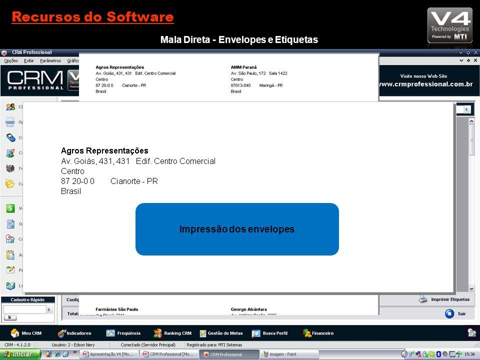 Recursos do Software Mala Direta - Envelopes e Etiquetas