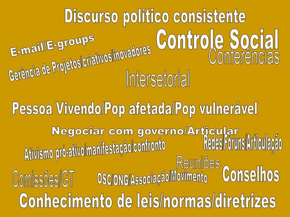 Discurso político consistente Controle Social E-mail/E-groups