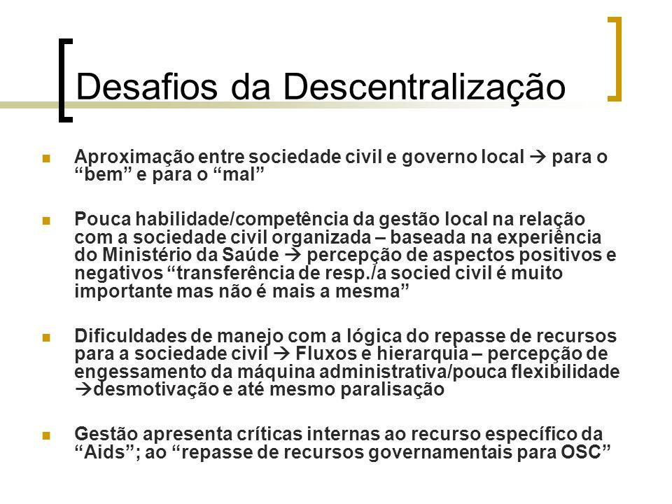 Desafios da Descentralização
