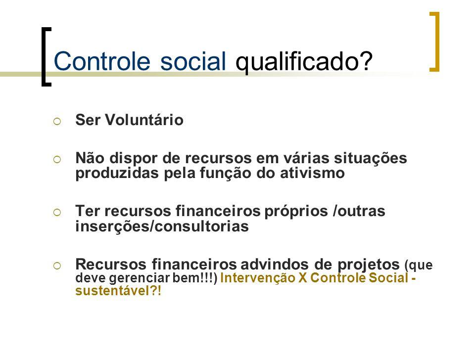 Controle social qualificado